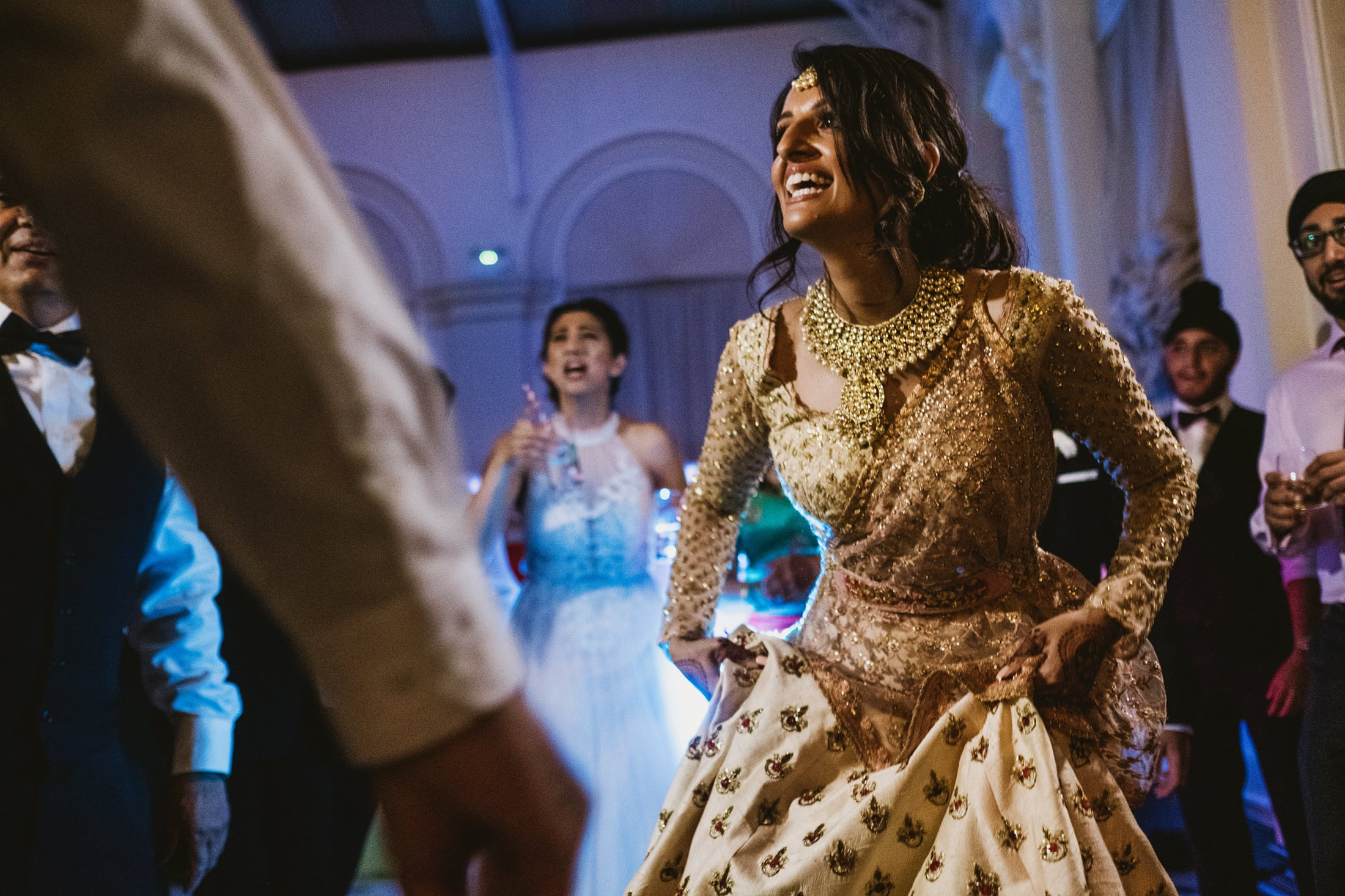 Bride on dance floor at Blenheim Palace