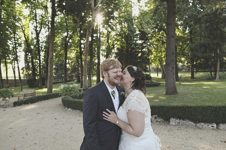 Bride and Groom portrait at Costermano