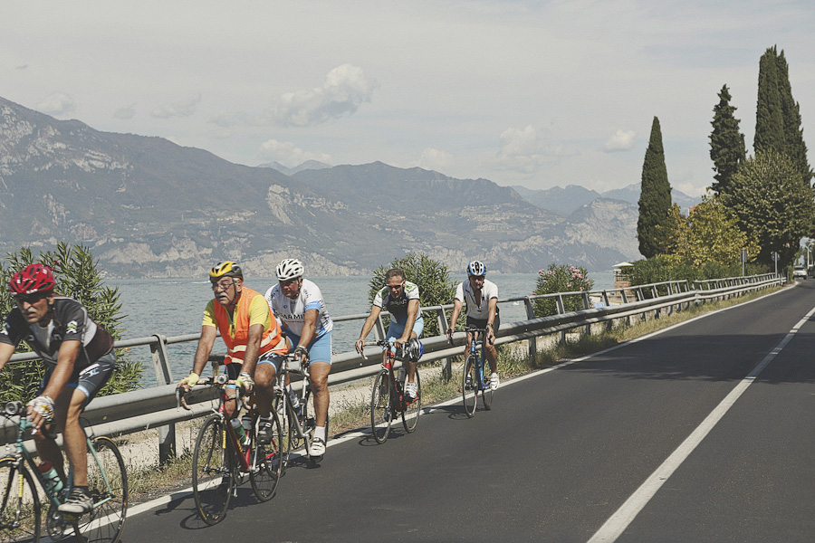 Cyclists at Lake Garda