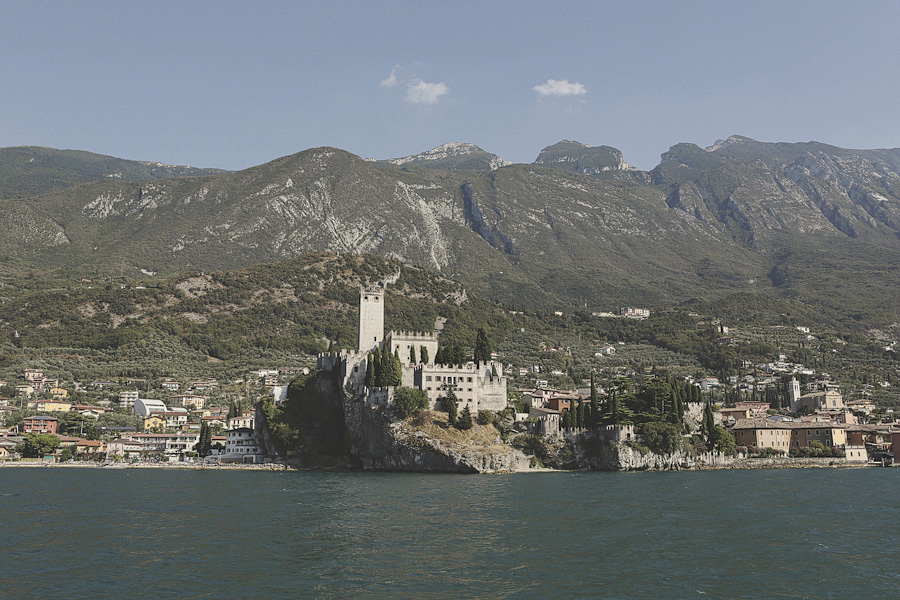 A boat view of Malcesine Castle