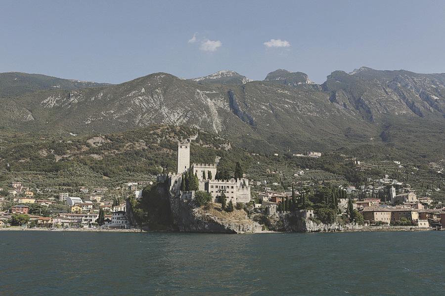 A boat view of Malcesine Castle