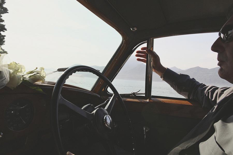 Chauffeur in wedding car