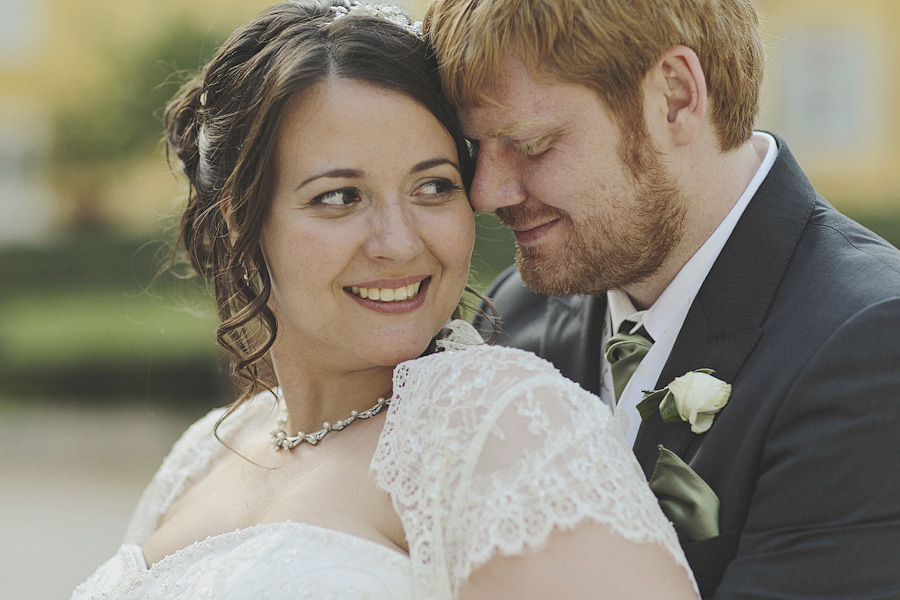beautiful portrait of bride and groom