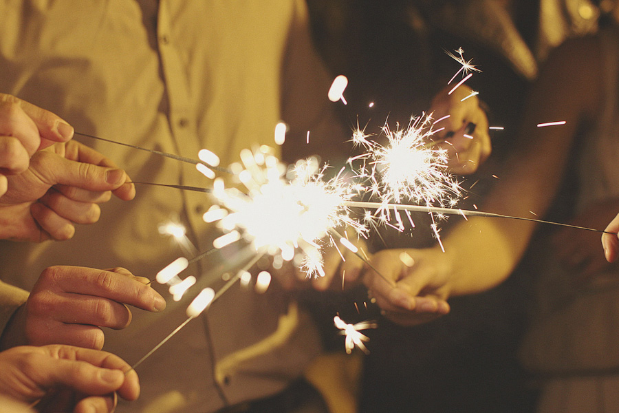 Sparklers at Ox Pasture Hall