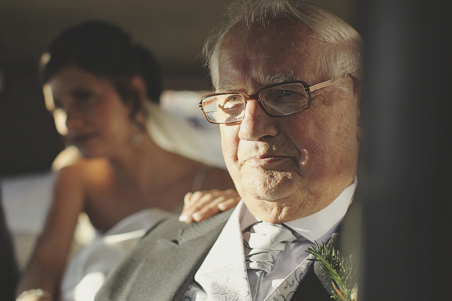 Grandad waiting in Wedding Car