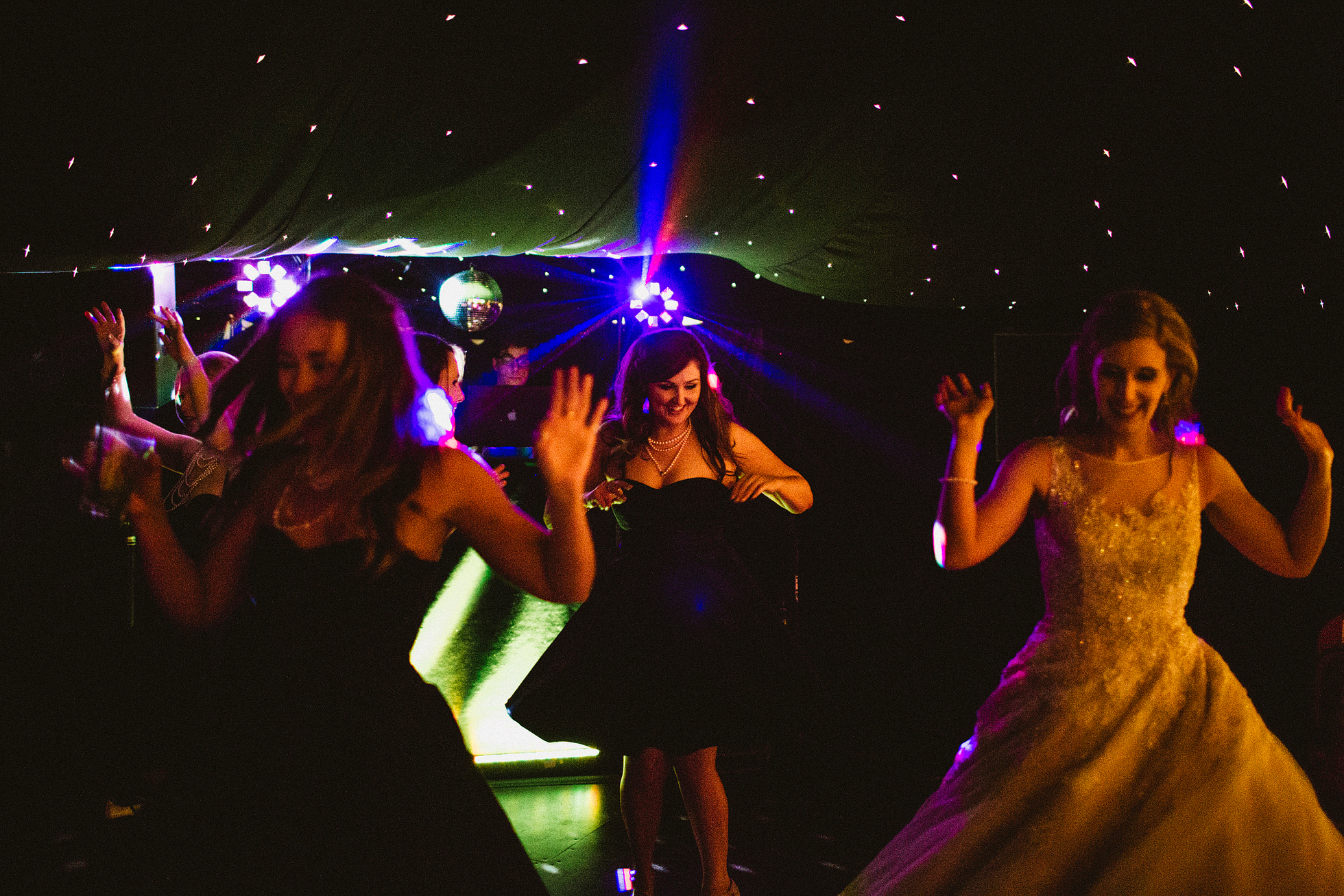 The wedding reception at Middleton Lodge