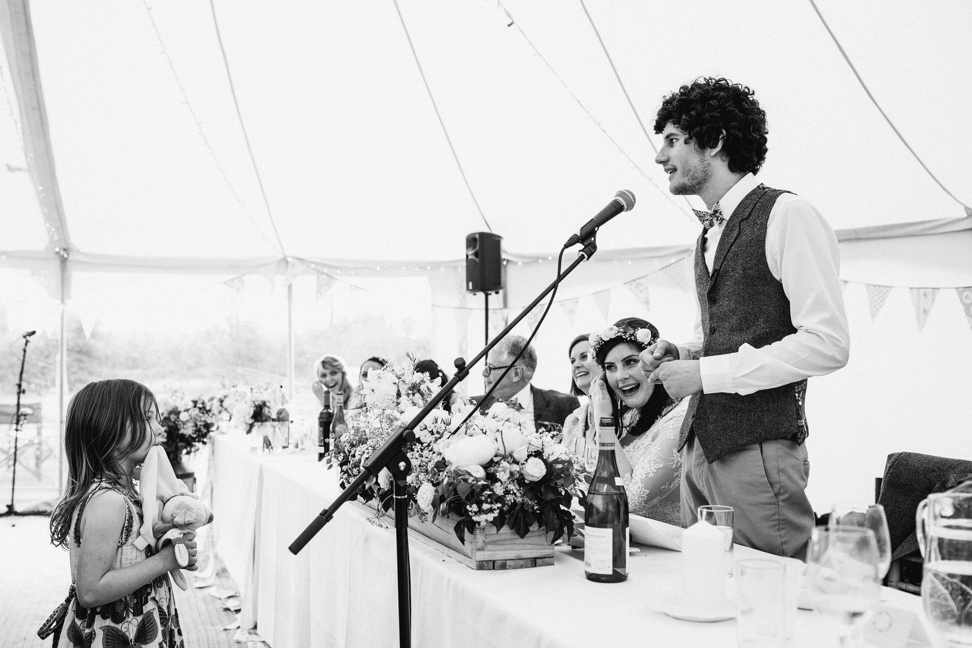 Canvas Marquee Wedding Speeches
