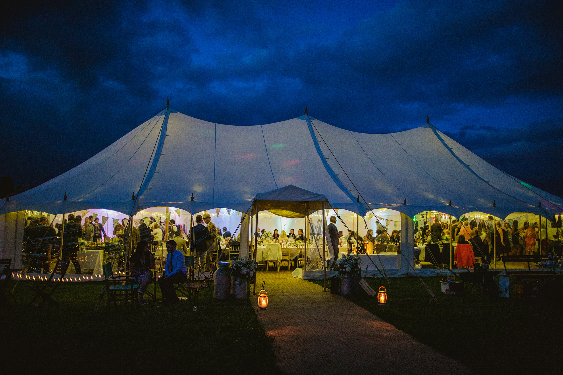 Canvas Marquee Evening Wedding Reception