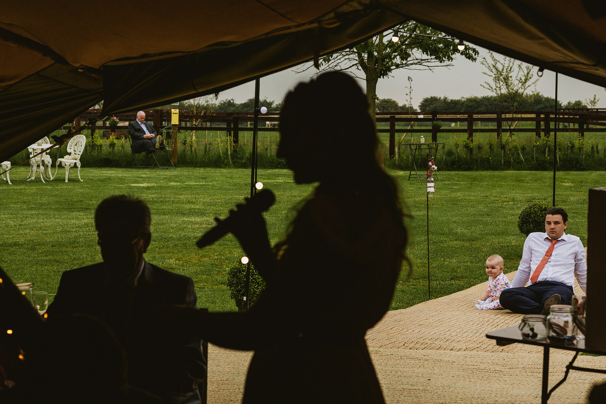 Country Teepee Wedding Speeches at Skipbridge