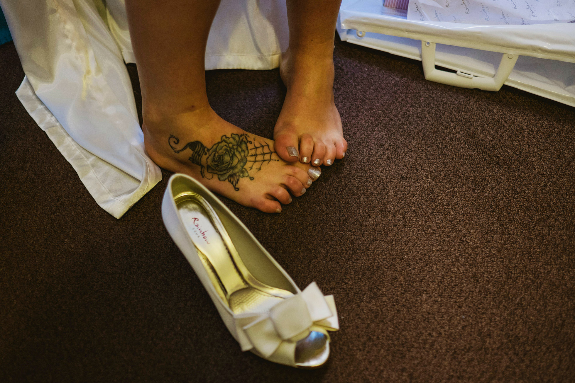 Alternative Wedding Shoe Photograph