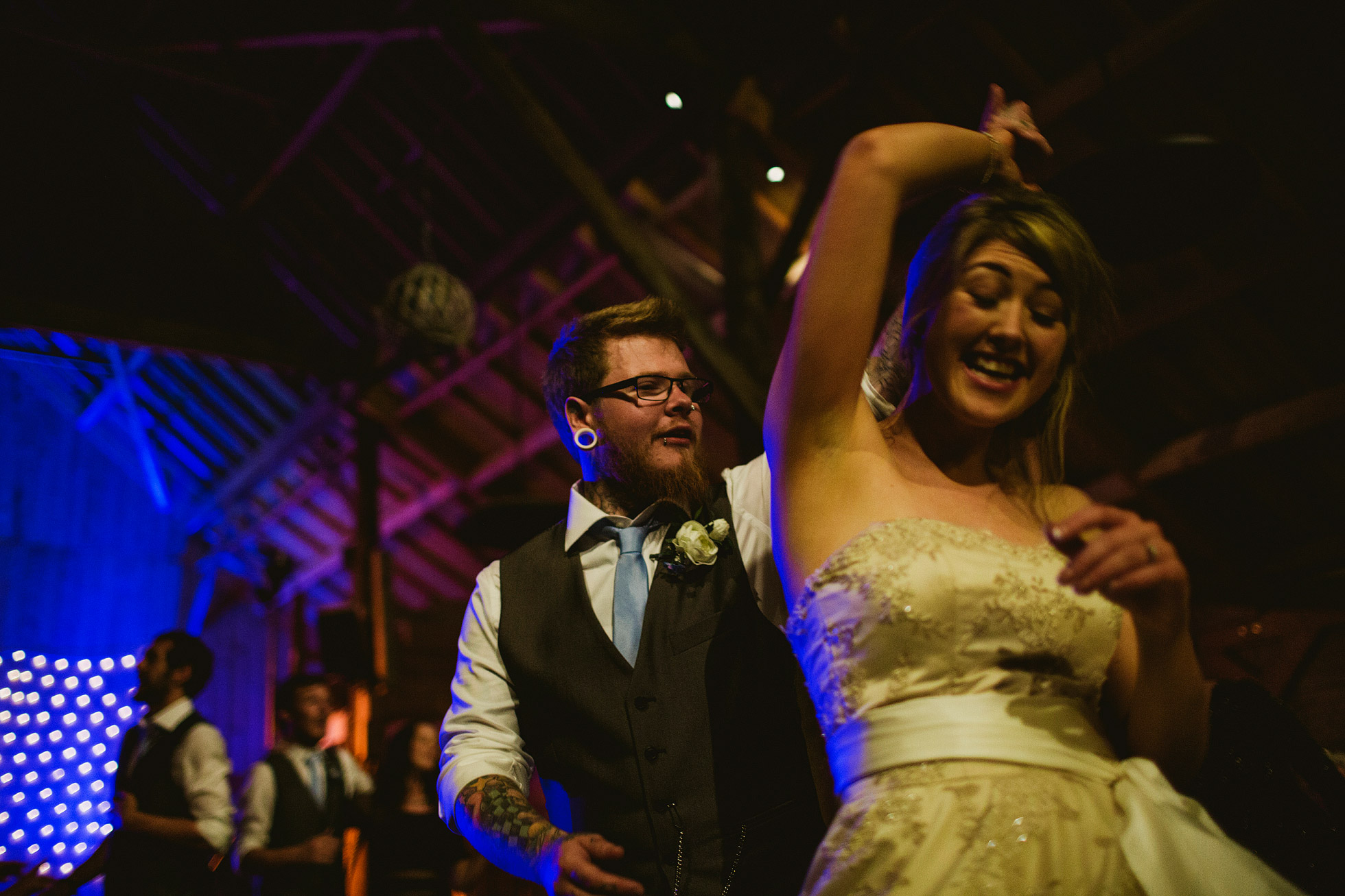 Bride and Groom Dancing at York Maze