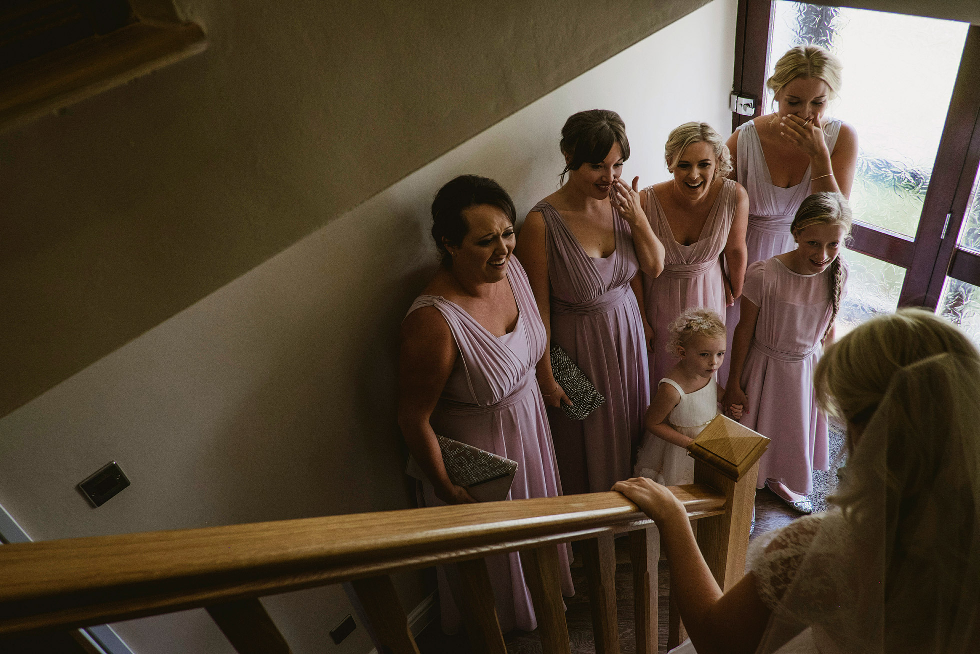 Reaction of the bridesmaids