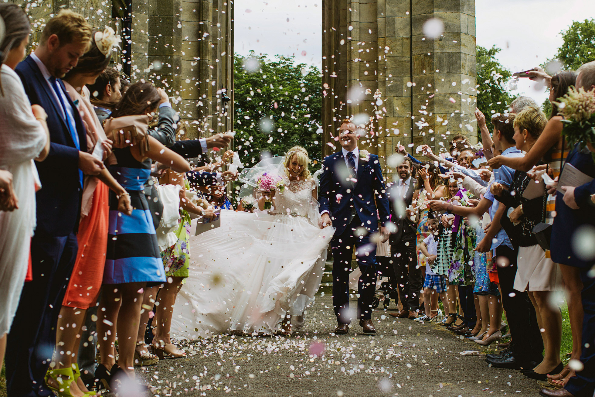 Stand Parish Wedding Confetti
