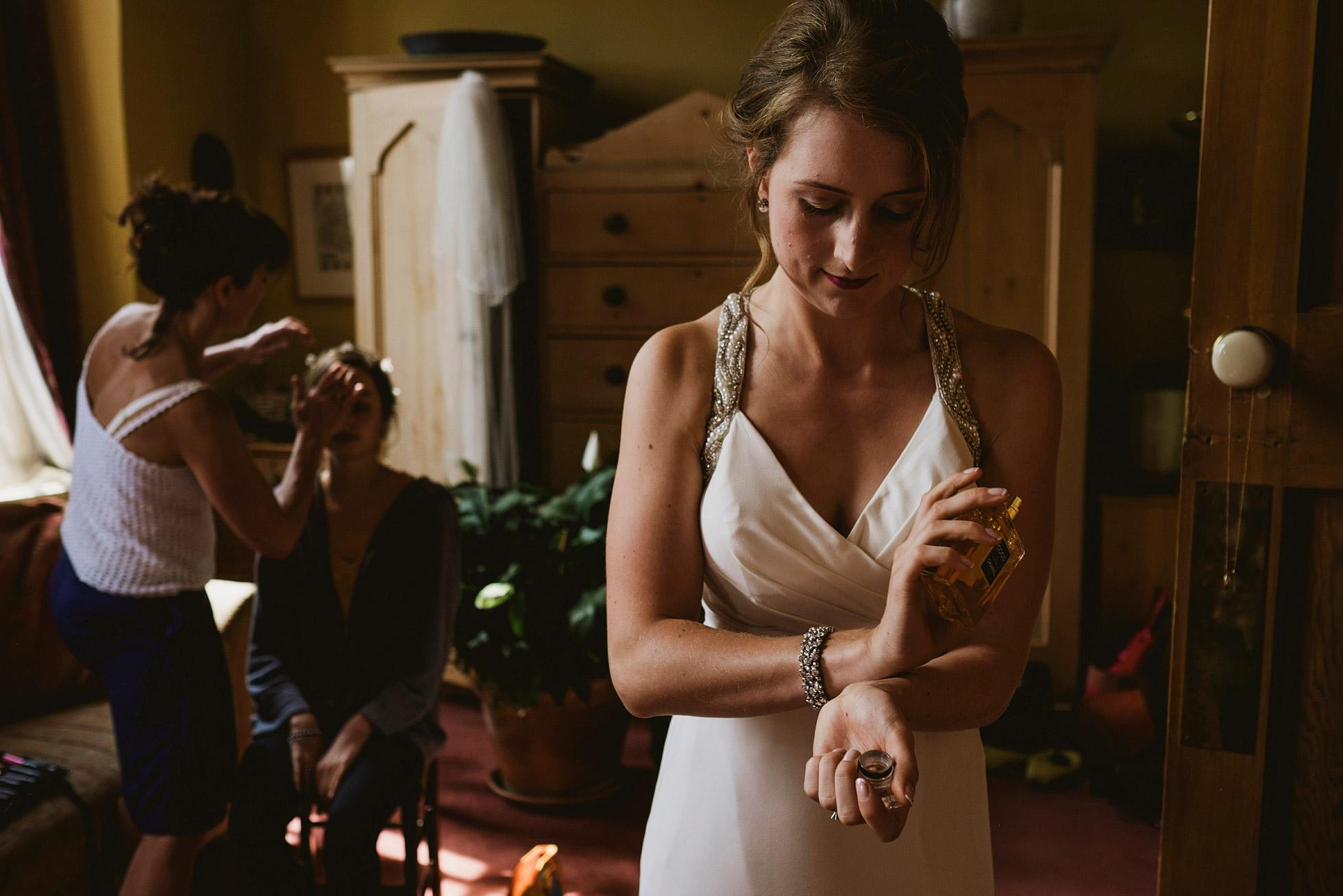 Bride Getting Ready Yorkshire