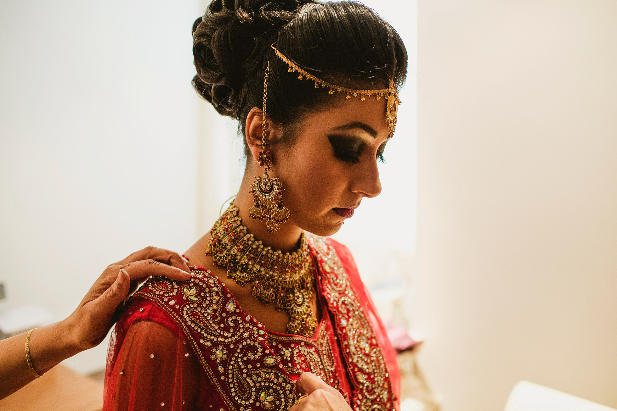 Indian Wedding Bridal Preparations in Harrogate