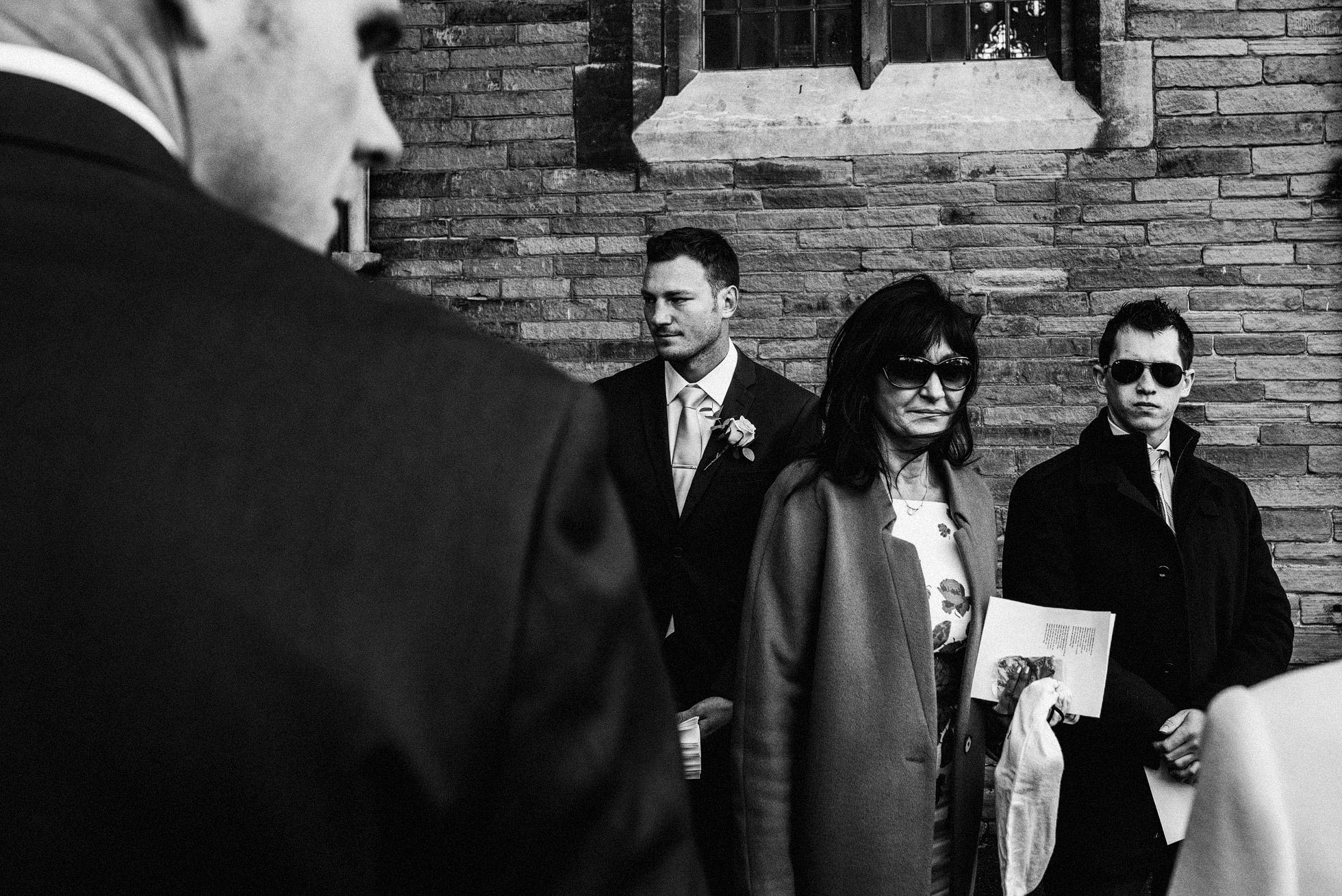 Yorkshire Wedding Ceremony Black and White