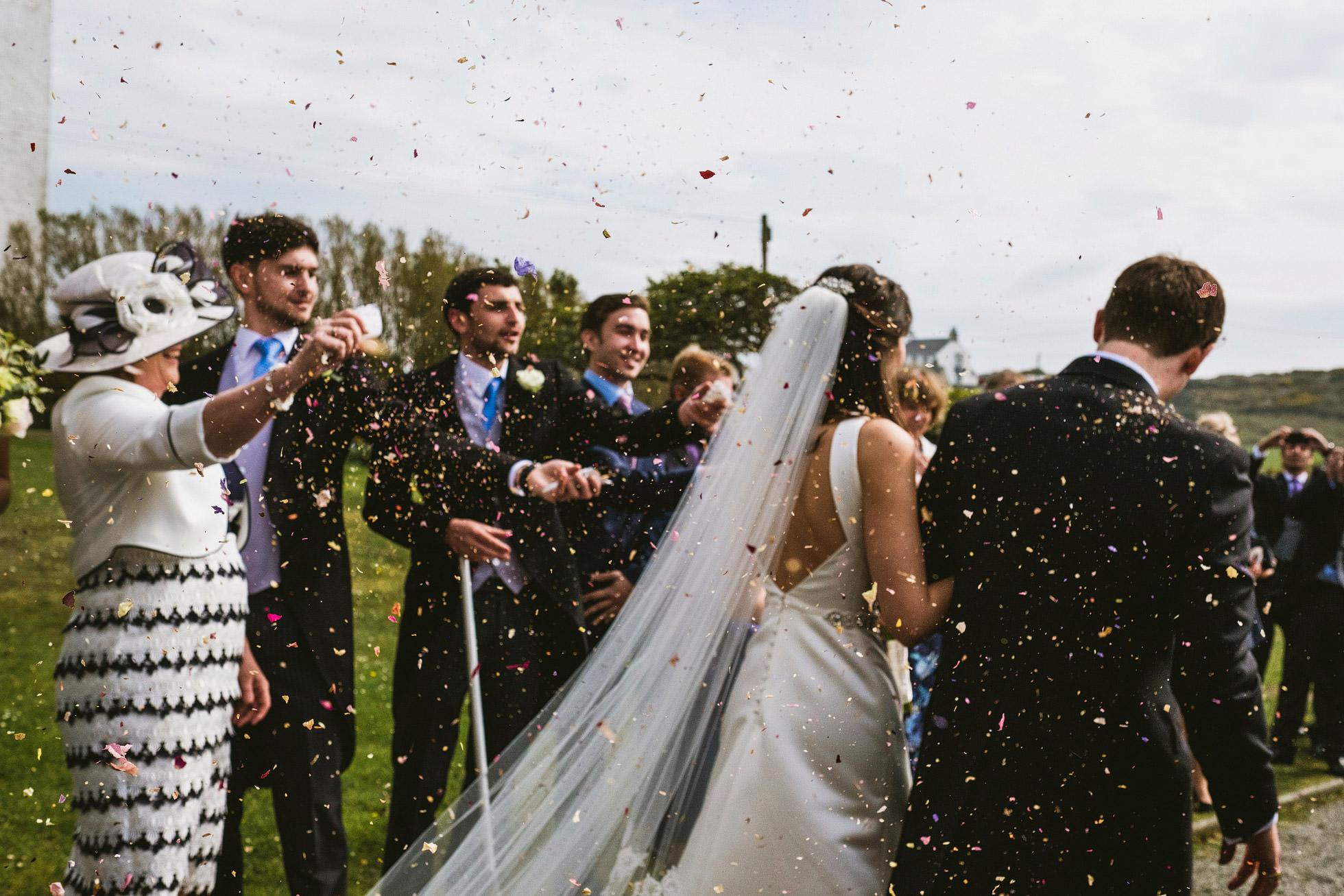 Trearddur Bay Wedding Confetti