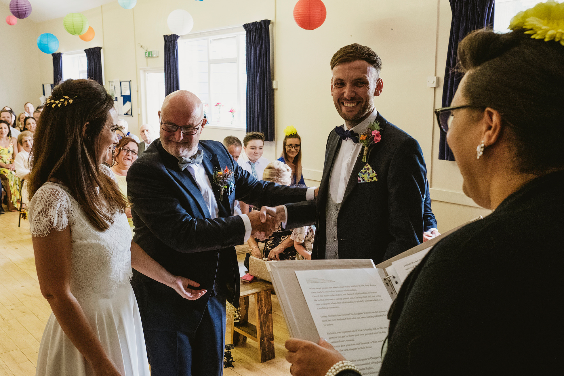 chappel village hall wedding photography