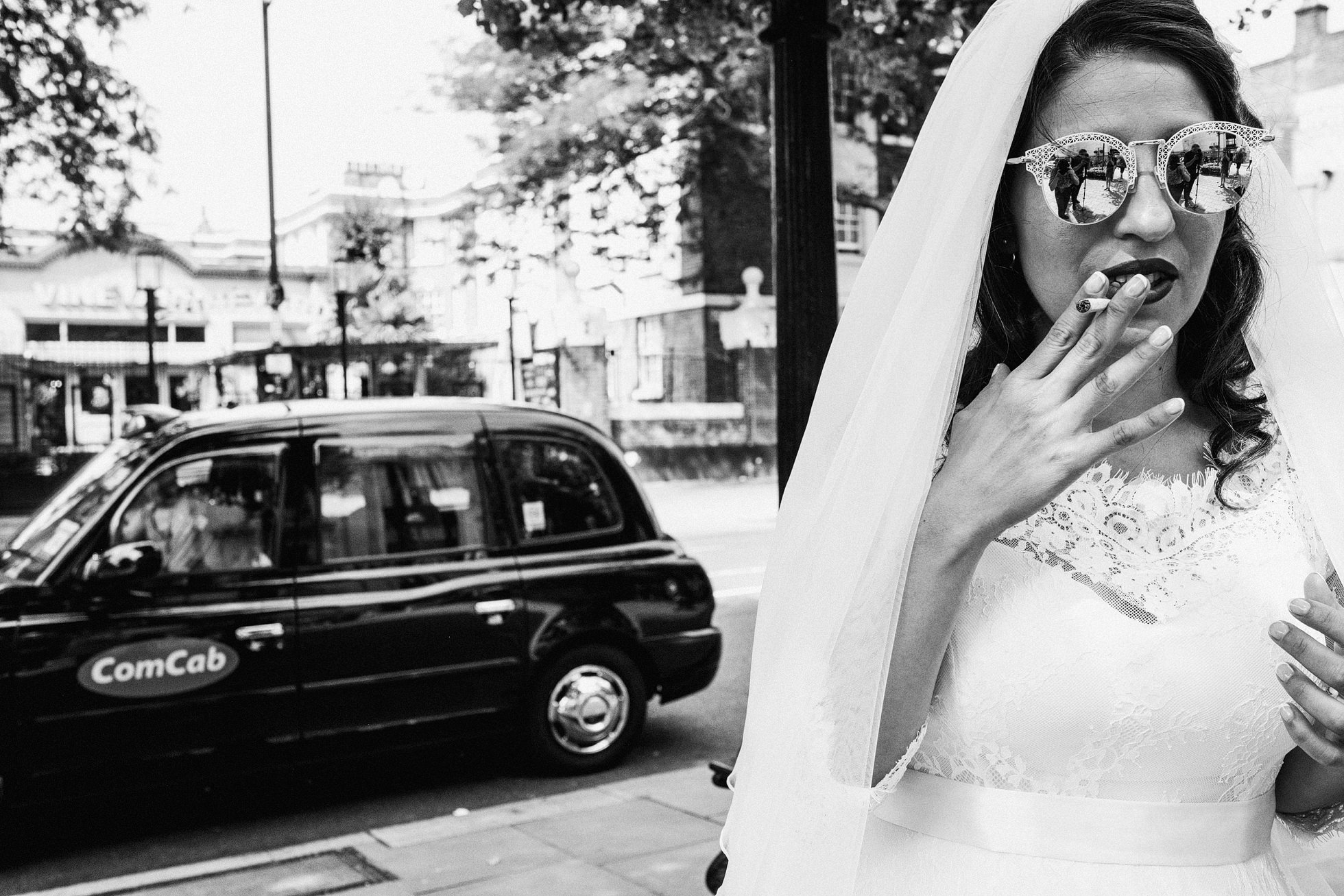London cab wedding car