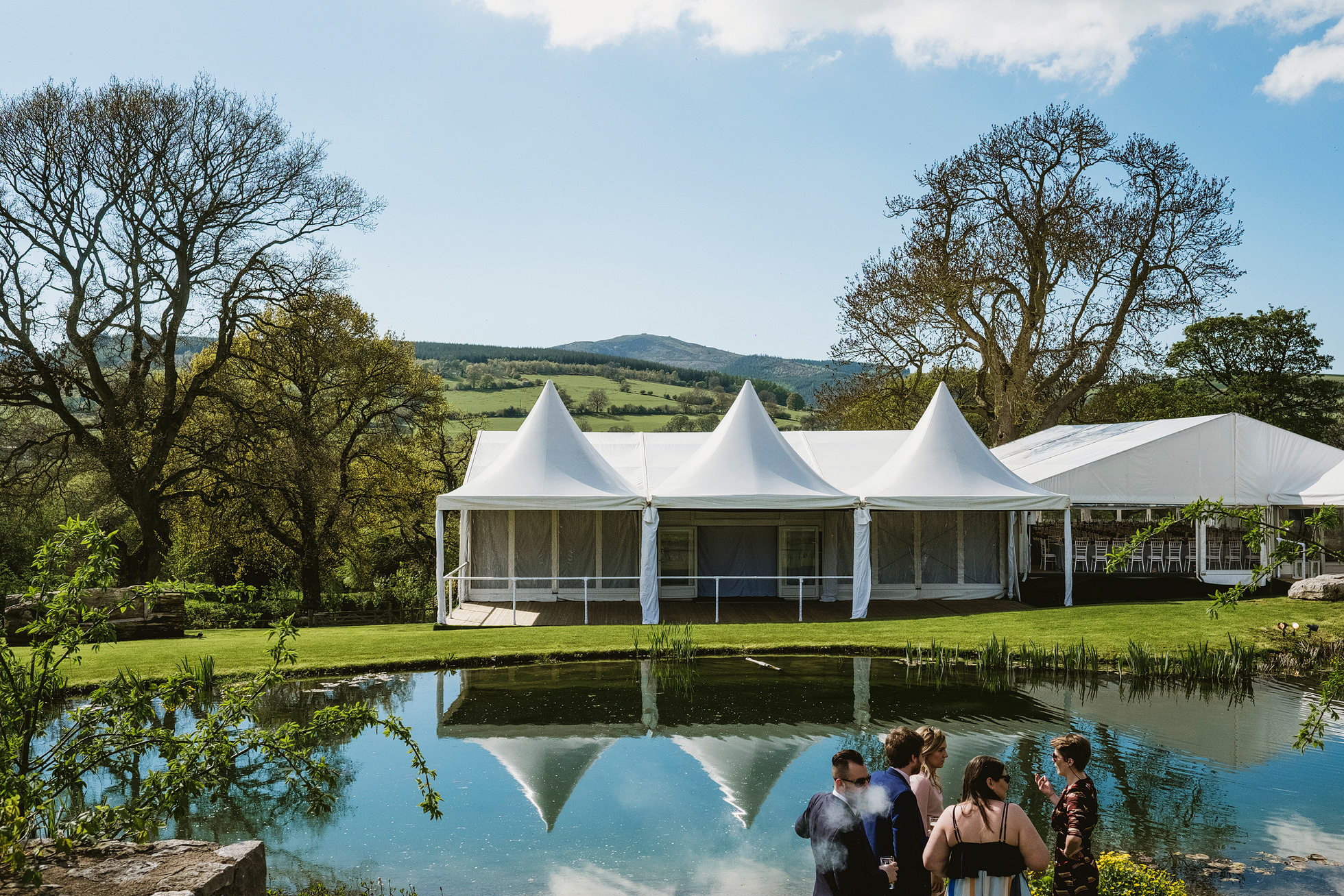 back garden marquee wedding photographer