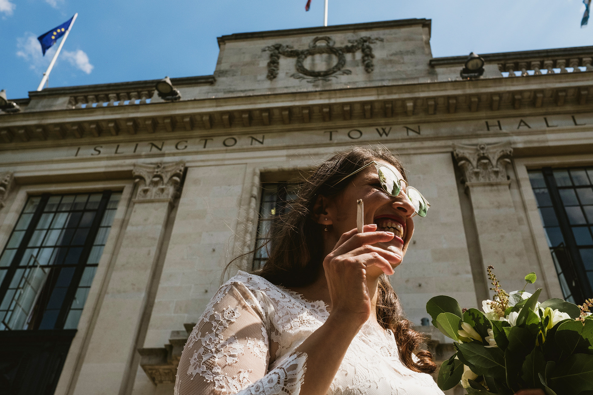 Islington Town Hall Wedding Photo
