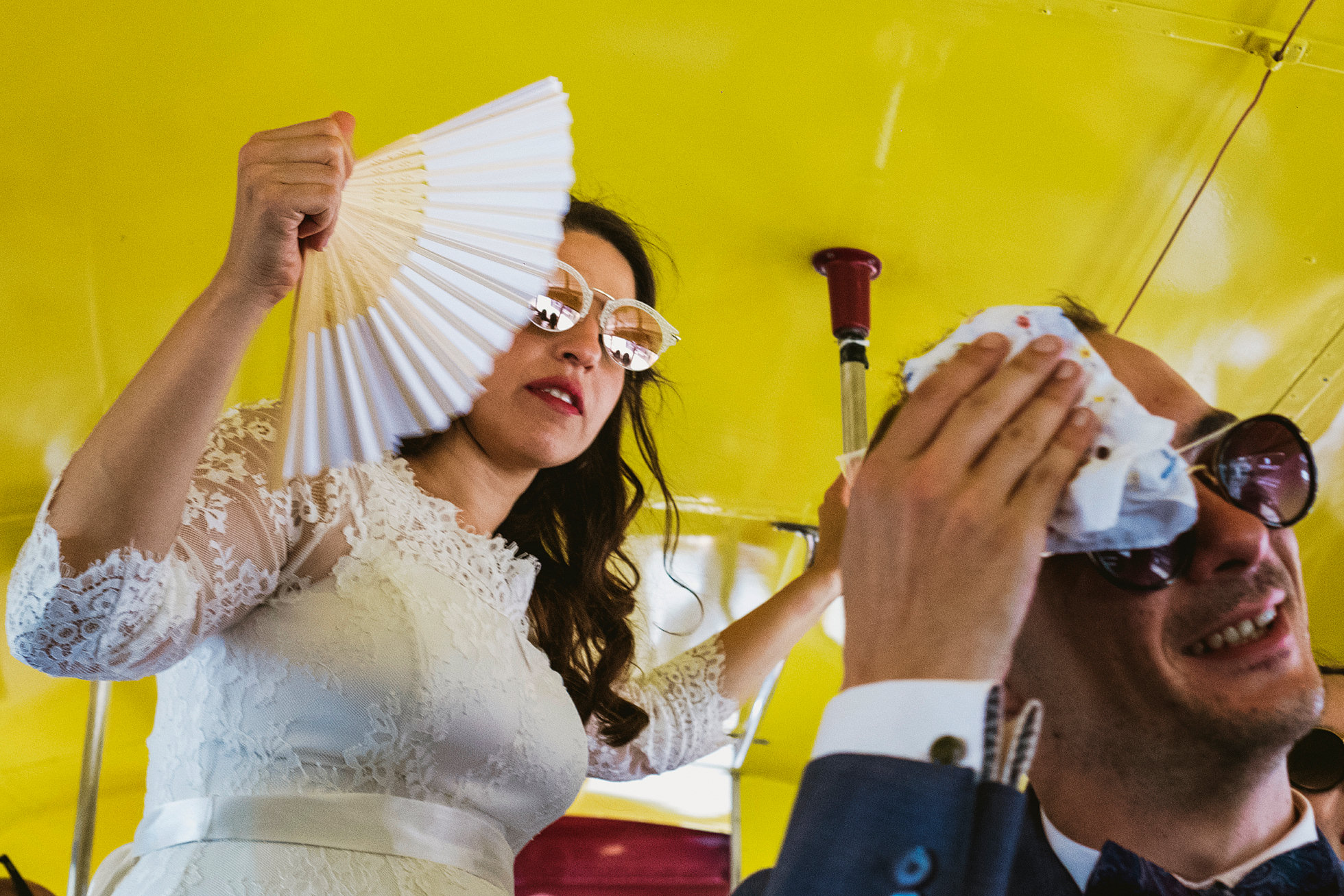 Paper fans at weddings