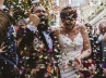 york wedding photographer confetti shot