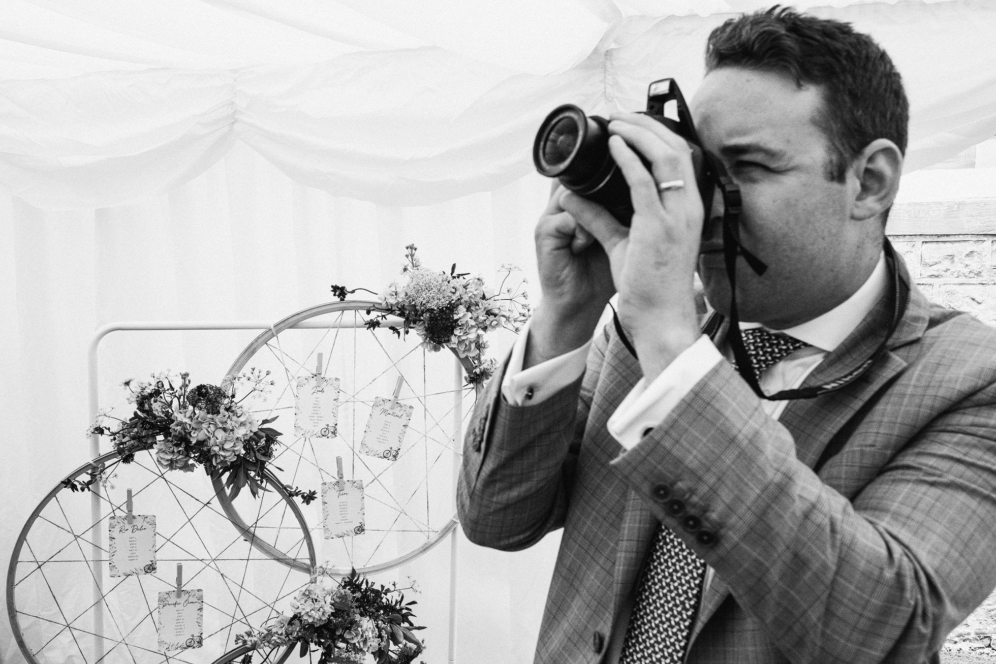 Leathley Village Hall wedding photographers