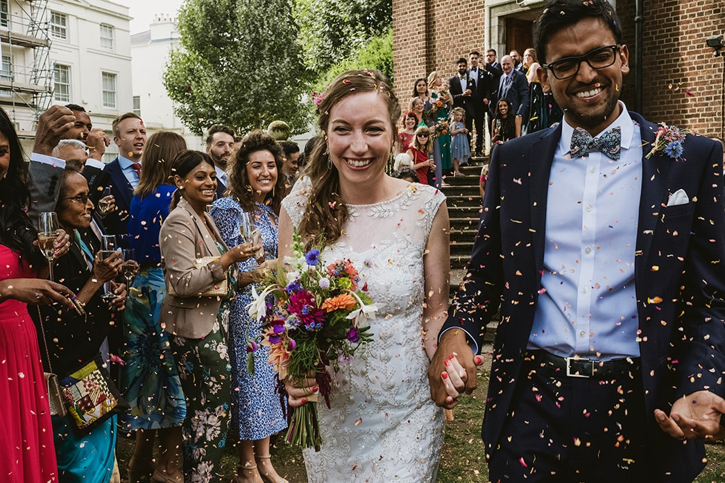 Cecil Sharp House multi coloured wedding confetti