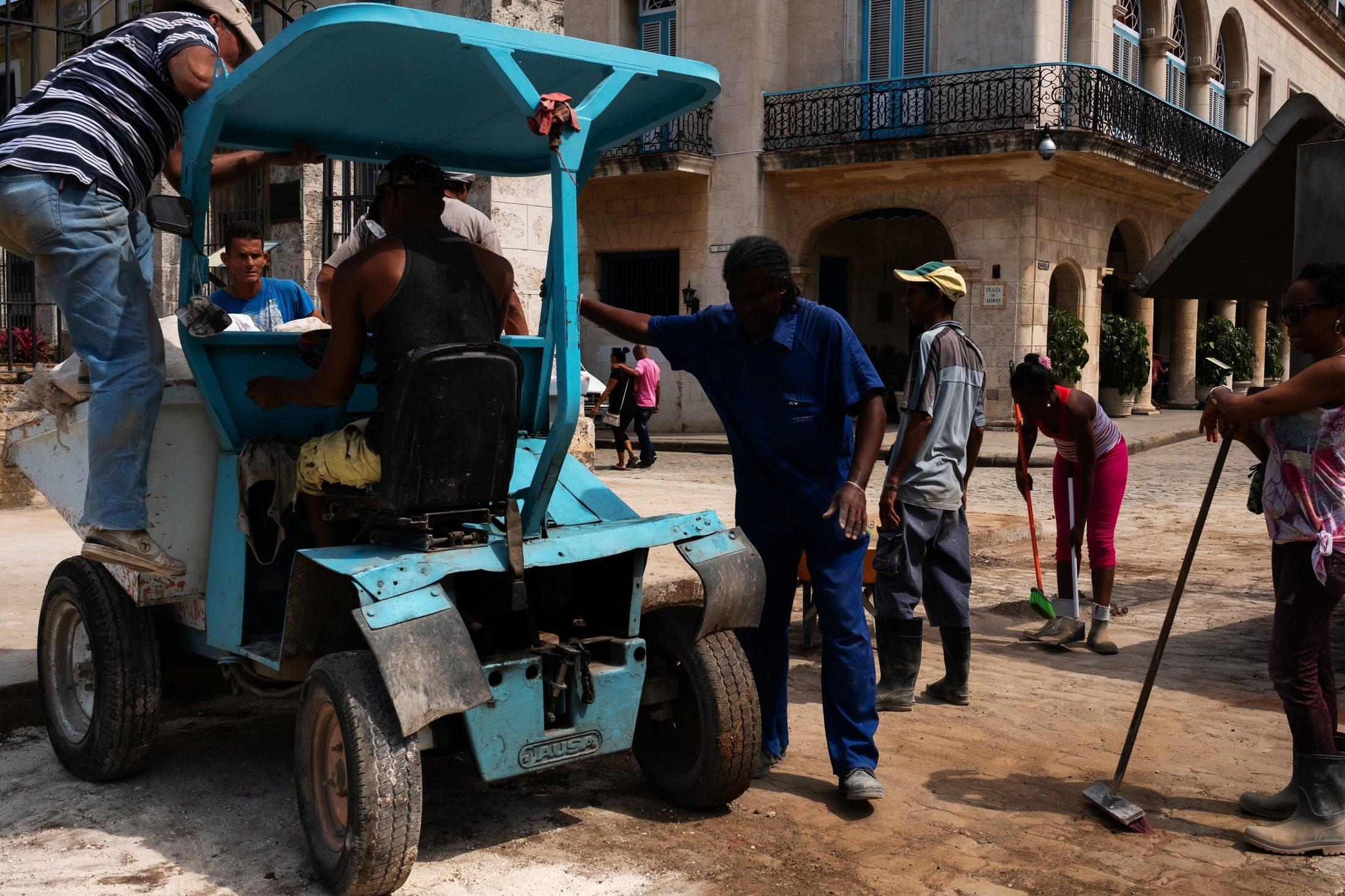 workers in Havana, Cuba