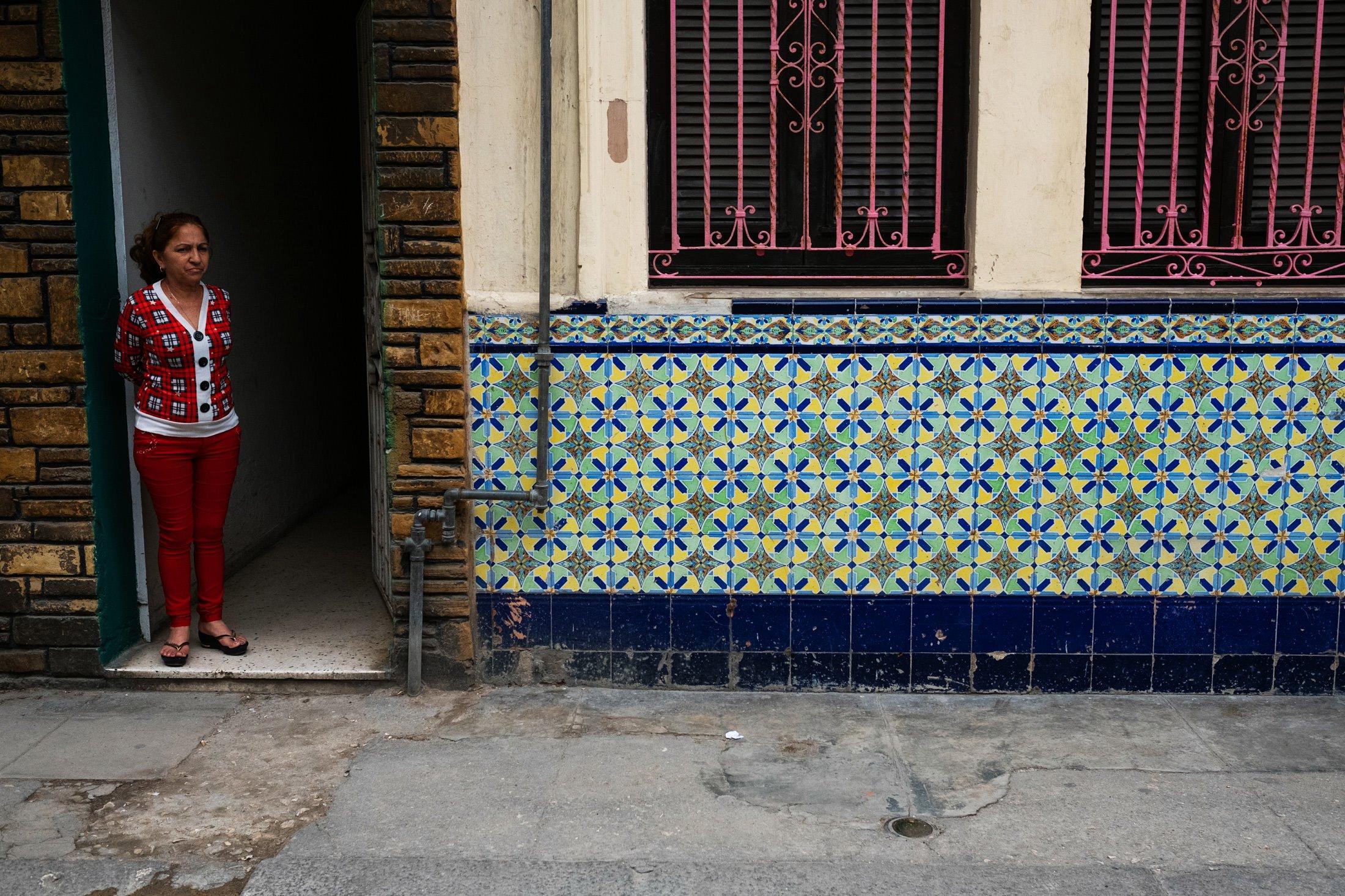 woman standing in Havana, Cuba