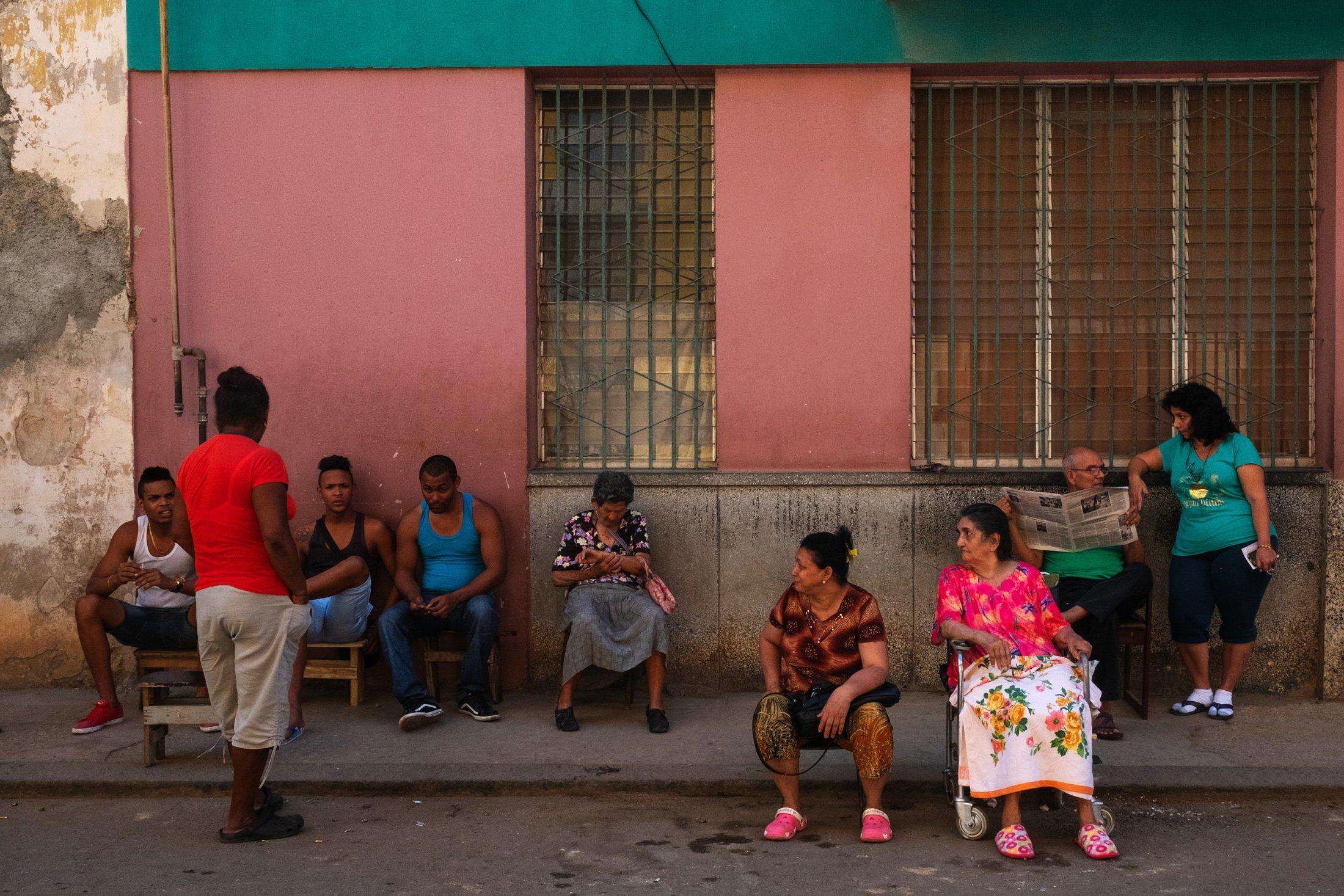 group shot at Trinidad, Cuba
