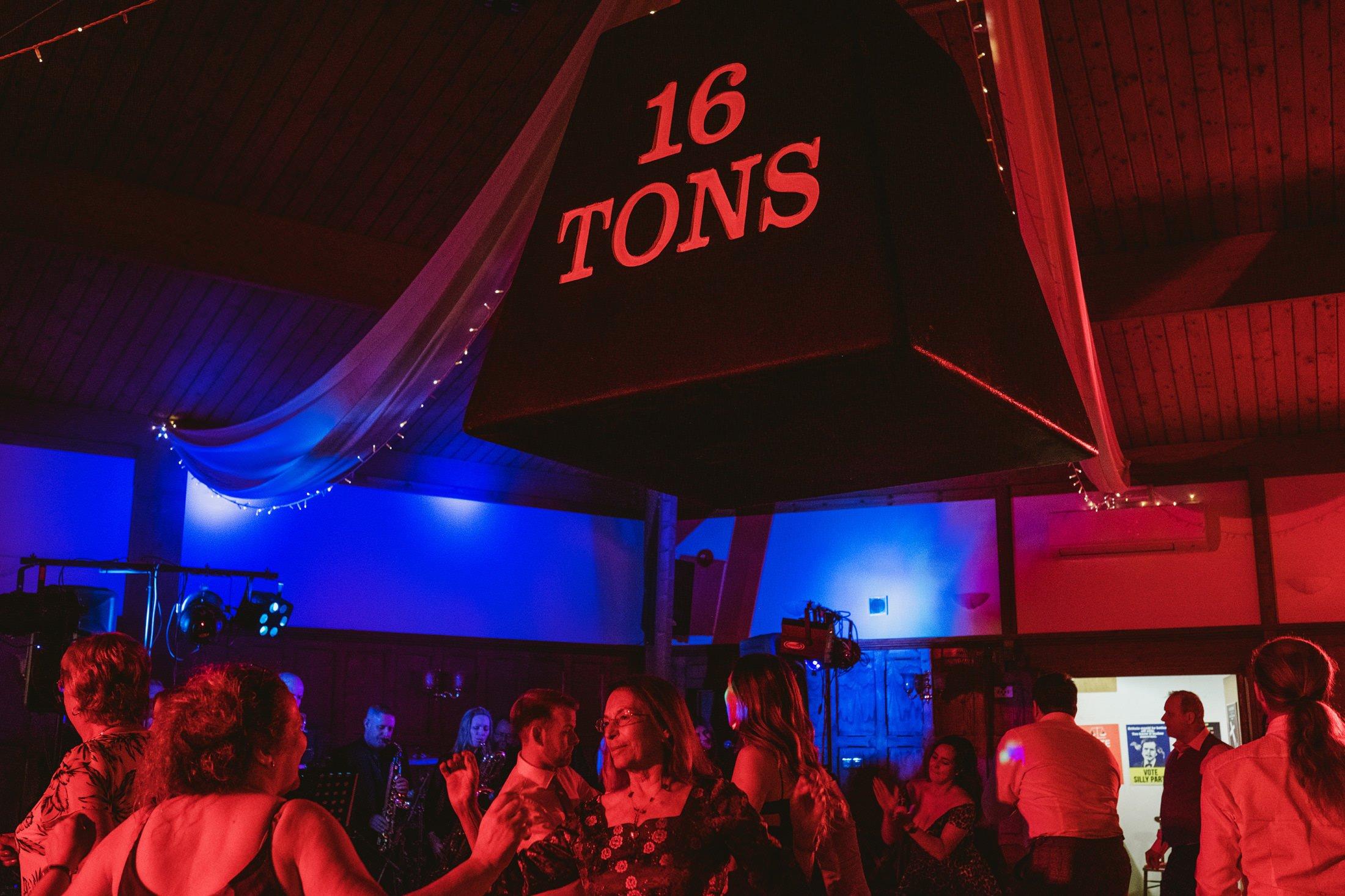16 ton weight on the dance floor
