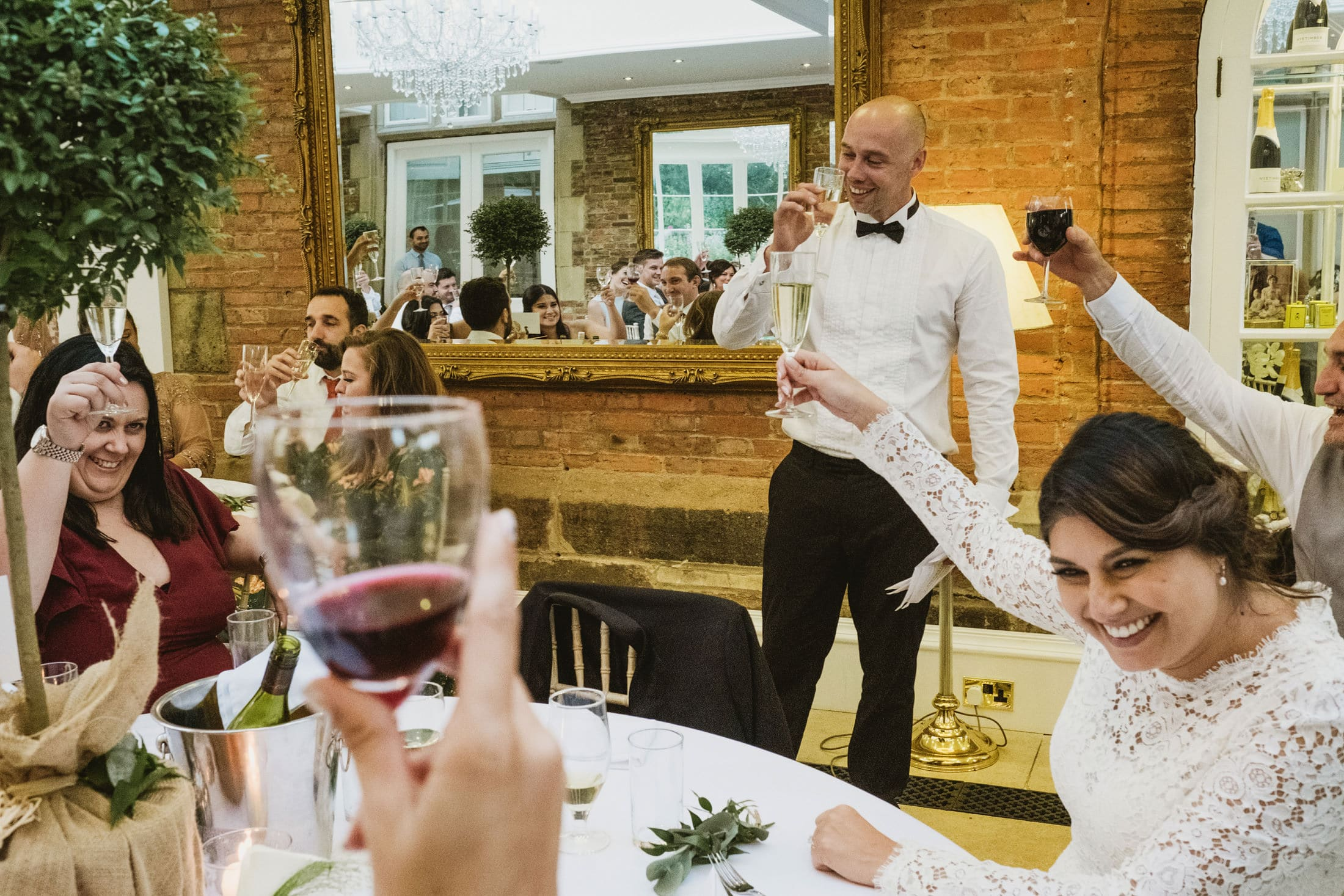 Cheers! Wedding celebrations at Goldsborough Hall
