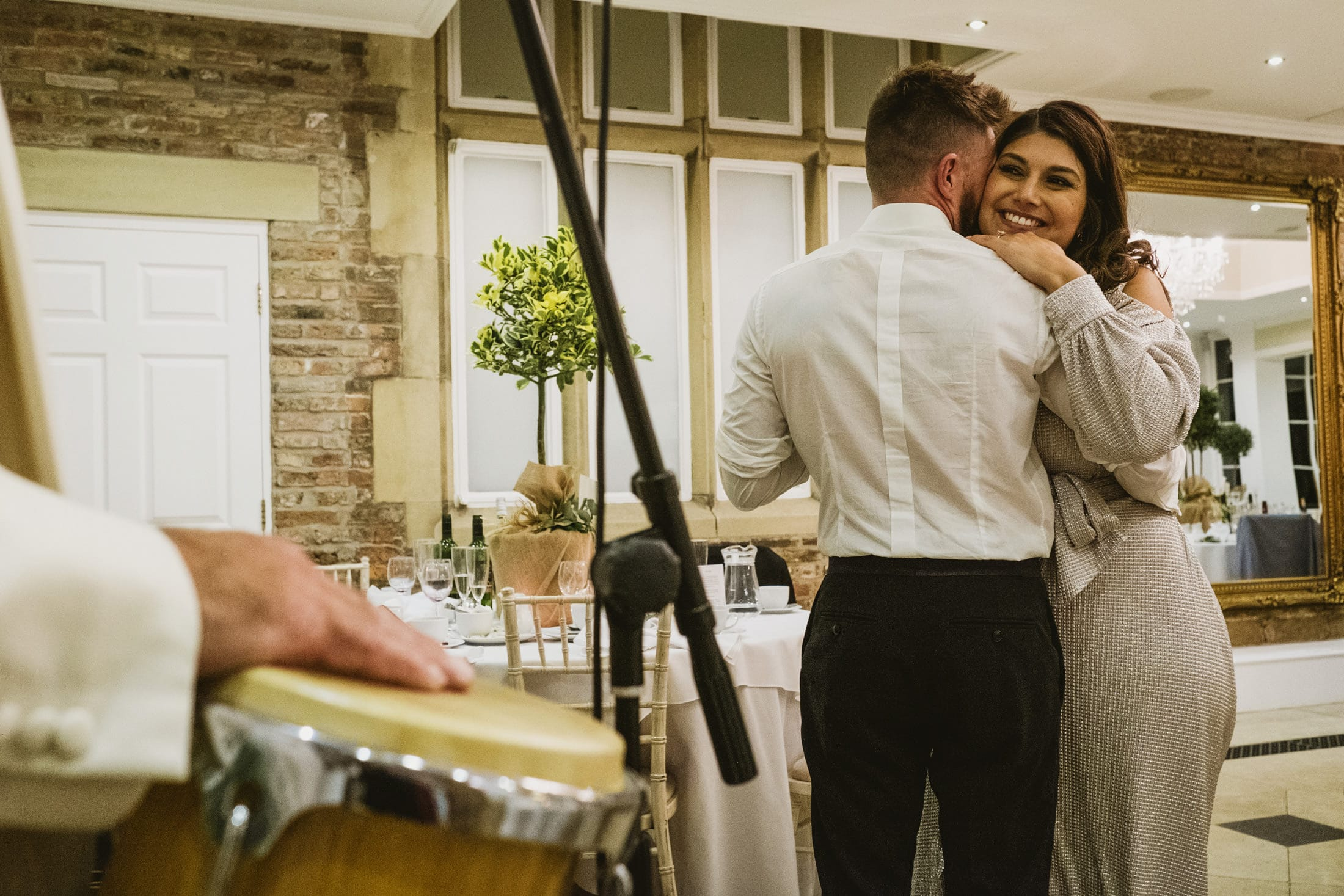 impromptu first dance at Goldsborough Hall