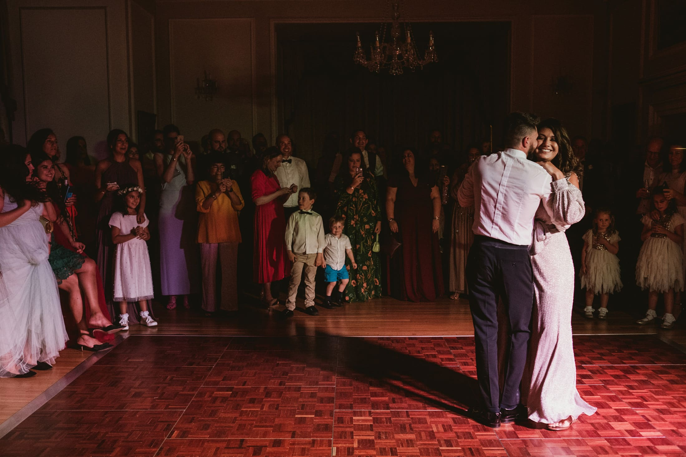 first dance at Goldsborough Hall in colour