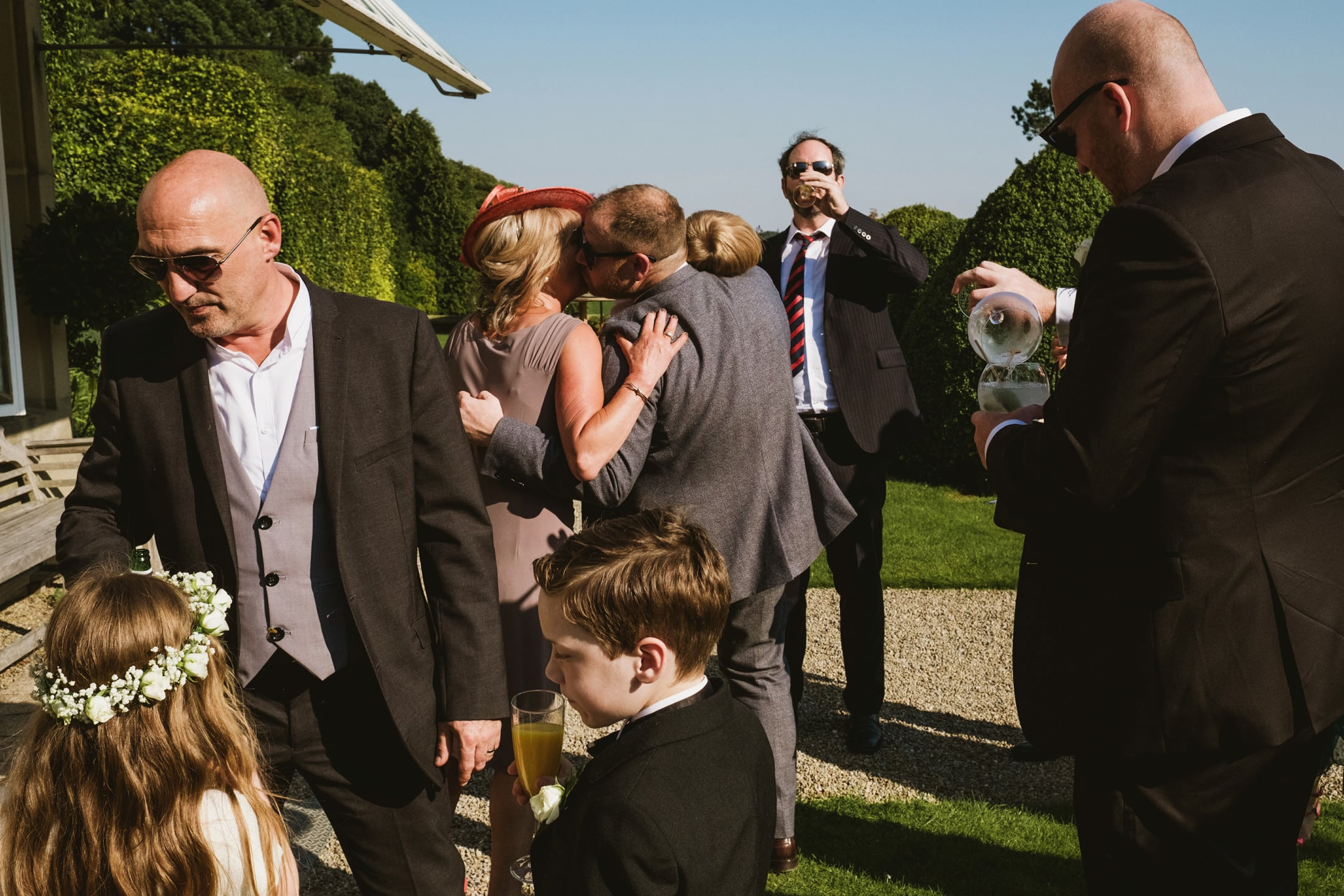 wedding reception at Goldsborough Hall, layered street photograph