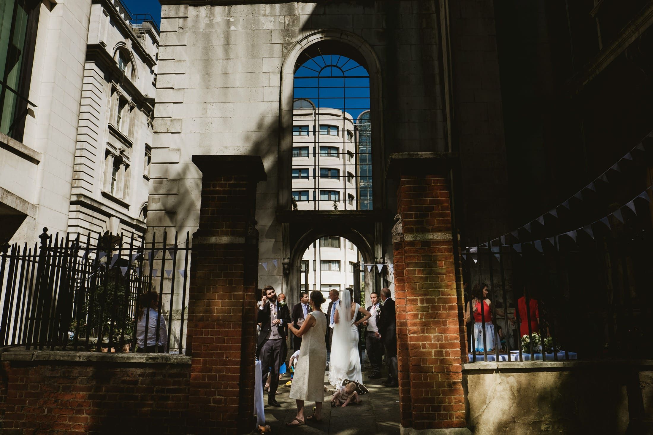 Intimate micro wedding reception in Greyfriars Passage London