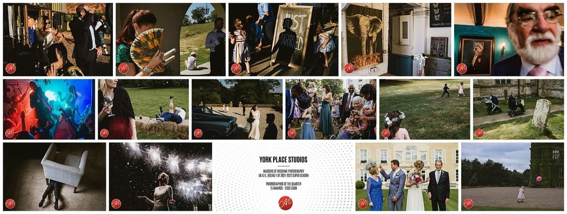 a collection of images that won The Masters of Wedding Photography