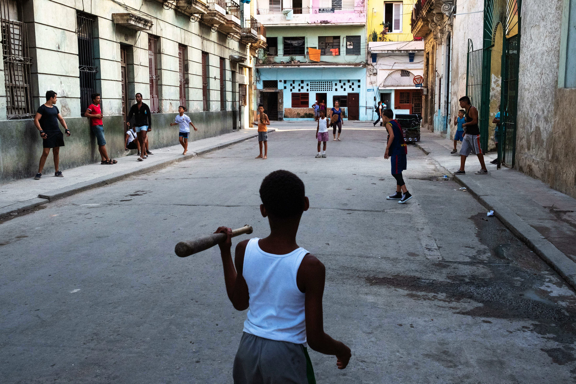 baseball game with the boys in Cuba