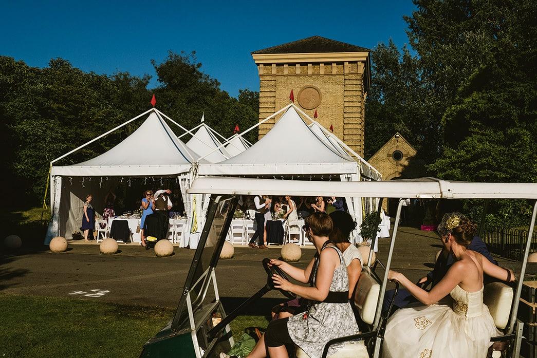 Pump House wedding reception marquee
