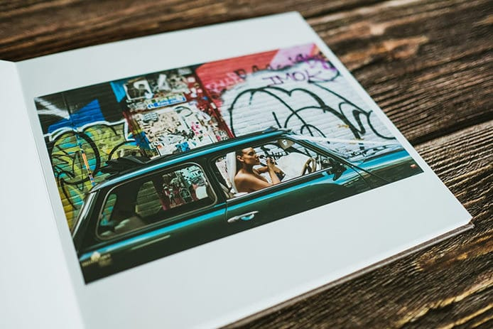 Wedding Albums featuring documentary photography images