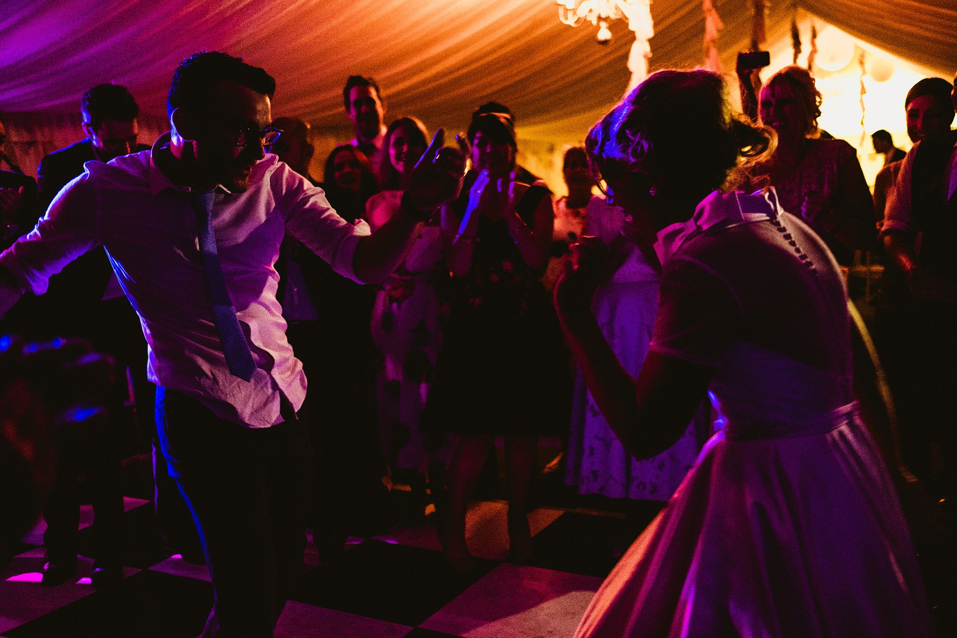 bride and groom dancing at Snelson Farm