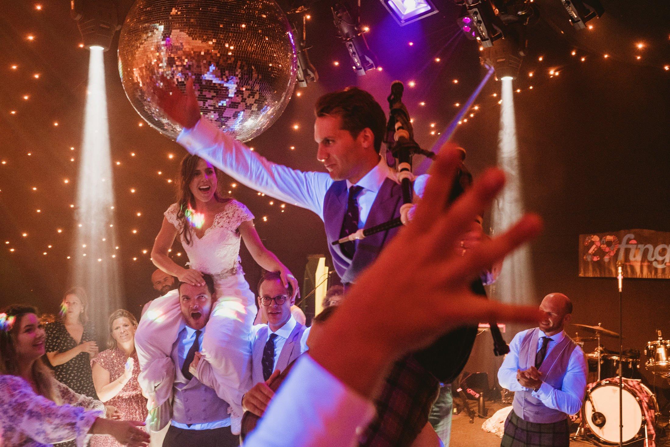 groom and bride on the dance floor