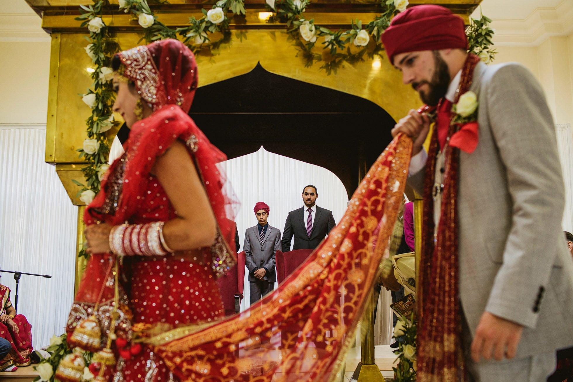 indian wedding ceremony bride and groom